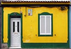 Alloggi sull'isola delle Azzorre, Portogallo Fotografie Stock