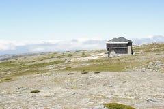 Alloggi sulla cima di Torre - il più alto punto del Portogallo Fotografia Stock
