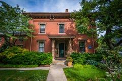 Alloggi vicino all'università di Harvard, a Cambridge, Massachusetts Fotografia Stock