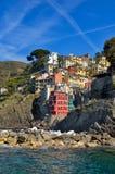 Alloggia al disopra della superficie in Riomaggiore, Cinque Terre, Italia Immagine Stock Libera da Diritti