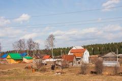 alloggia il villaggio Immagine Stock