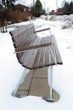 Alloggiamento della neve del banco Fotografie Stock