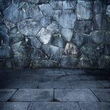 Alloggiamento di pietra Grungy fotografia stock libera da diritti