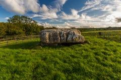 Alloggiamento di sepoltura di Lligwy Fotografie Stock