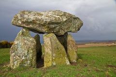 Alloggiamento di sepoltura neolitico di Careg Sampson Immagini Stock