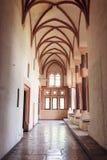Alloggiamento in più grande castello gotico in Europa - Malbork Fotografia Stock Libera da Diritti