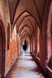 Alloggiamento in più grande castello gotico in Europa - Malbork Fotografia Stock
