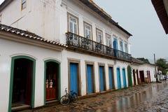 Alloggiamento portoghese di Paraty Fotografie Stock