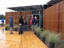 Alloggiamento solare modulare Fotografia Stock