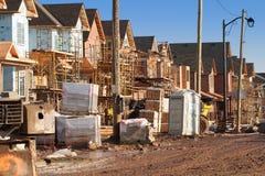 Alloggiamento suburbano in costruzione Fotografia Stock