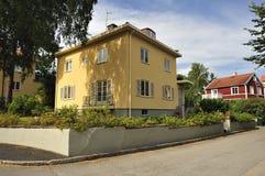 Alloggiamento svedese Fotografia Stock Libera da Diritti