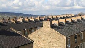 Alloggiamento a terrazze, Lancashire. Fotografia Stock Libera da Diritti