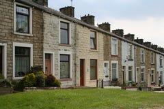 Alloggiamento a terrazze, Lancashire. Immagine Stock
