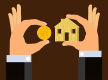 Alloggio accessibile economico - casa di affare Immagini Stock