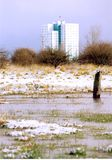 Alloggio dei bassifondi, Bransholme, Kingston sopra il guscio Fotografie Stock