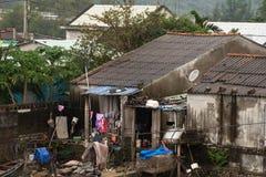 Alloggio dei bassifondi, povertà, gente povera Fotografia Stock Libera da Diritti