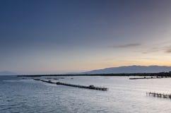 Alloggio dei pescatori in mare Fotografie Stock