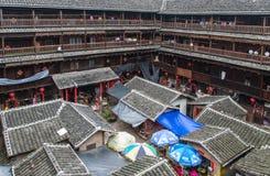 Alloggio del cinese tradizionale di Tulou di hakka nella provincia del Fujian del Ch Fotografia Stock Libera da Diritti