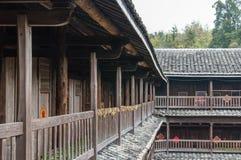 Alloggio del cinese tradizionale di Tulou di hakka nella provincia del Fujian del Ch Immagini Stock Libere da Diritti