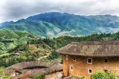 Alloggio del cinese tradizionale di Tulou di hakka nella provincia del Fujian del Ch Immagine Stock Libera da Diritti