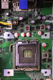 Alloggio del computer della scheda madre dell'alloggio dell'unità di elaborazione del CPU fotografie stock libere da diritti