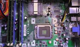 Alloggio del computer della scheda madre dell'alloggio dell'unit? di elaborazione del CPU fotografie stock