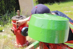 Alloggio dell'idrante antincendio Immagini Stock Libere da Diritti