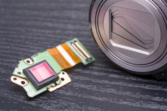 Alloggio della lente e del sensore Fotografie Stock
