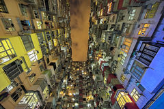 Alloggio di aumento della baia della cava alto in Hong Kong China Immagini Stock