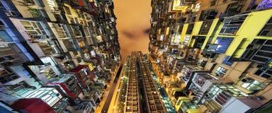 Alloggio di aumento della baia della cava alto in Hong Kong China Fotografia Stock Libera da Diritti