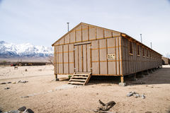 Alloggio di Braacks del centro di detenzione di Manzanar Immagini Stock