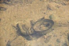 Alloggio di filtro dell'aria sotto l'acqua Fotografia Stock Libera da Diritti