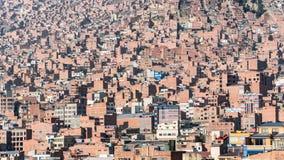Alloggio di massa alla La Paz Bolivia Fotografie Stock