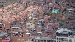 Alloggio di massa alla La Paz Bolivia Fotografia Stock Libera da Diritti