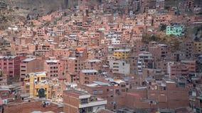 Alloggio di massa alla La Paz Bolivia Fotografia Stock