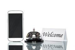 Alloggio di prenotazione di hotel di cooperazione del sito Web di globalizzazione, interno Fotografia Stock Libera da Diritti