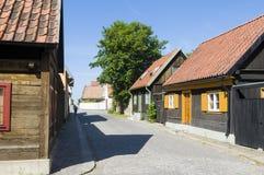Residentual Visby d'abitazione Svezia Immagine Stock