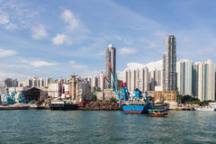 Alloggio e cantiere navale di Hong Kong Fotografia Stock