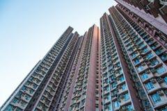 Alloggio e costruzione ammucchiati di Hong Kong Immagine Stock