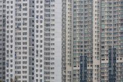 Alloggio e costruzione ammucchiati di Hong Kong Fotografia Stock Libera da Diritti