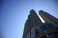 Alloggio e costruzione ammucchiati di Hong Kong Immagini Stock Libere da Diritti