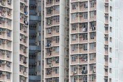 Alloggio e costruzione ammucchiati di Hong Kong Immagine Stock Libera da Diritti