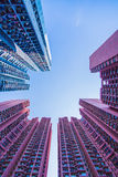 Alloggio e costruzione ammucchiati di Hong Kong Fotografia Stock
