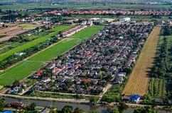 Alloggio e fotografia aerea di sviluppo del territorio Fotografia Stock Libera da Diritti
