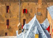 Alloggio ed architettura dei Paesi Bassi Vecchi case e pala Fotografia Stock Libera da Diritti