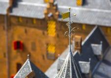 Alloggio ed architettura dei Paesi Bassi Vecchi case e pala Immagine Stock