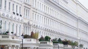 Alloggio georgiano a terrazze a Londra centrale ad ovest Immagini Stock
