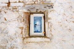 Alloggio greco tradizionale sull'isola di Corfù Fotografia Stock