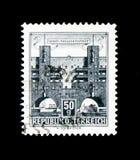 Alloggio, Karl-Marx-Hof, Vienna-Heiligenstadt, serie delle costruzioni, c Immagine Stock Libera da Diritti