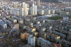 Alloggio misto dell'appartamento di vista aerea alla Cina Fotografie Stock